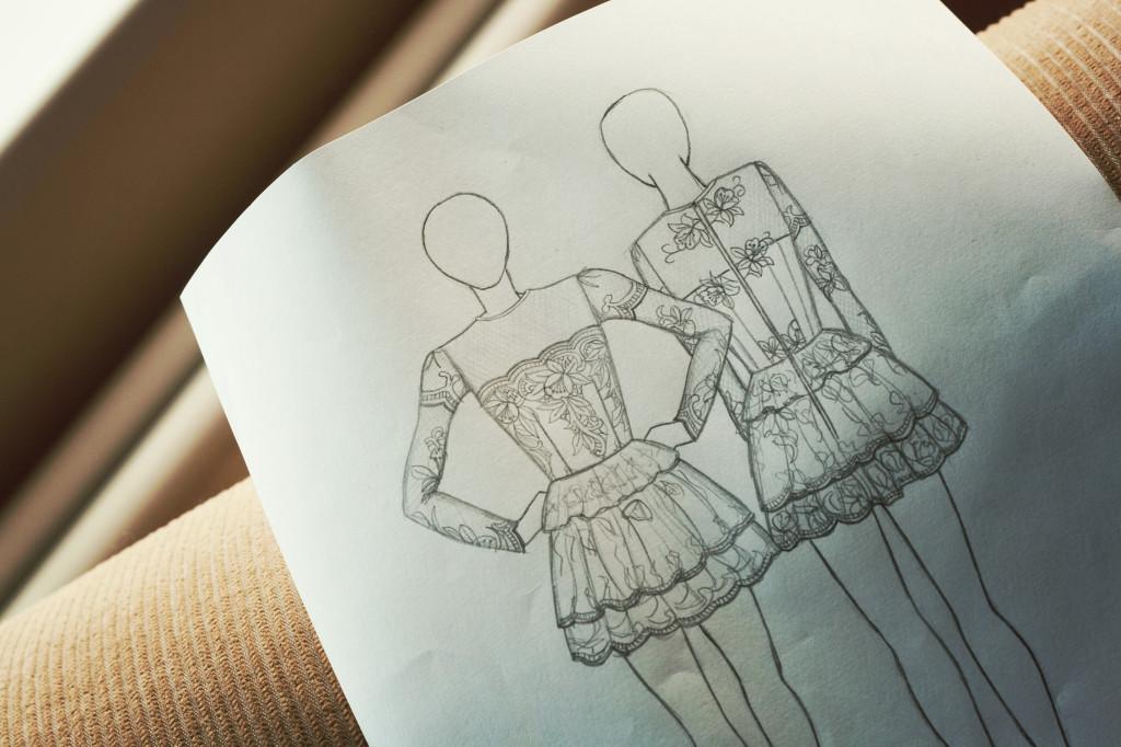 lace-dress-design-sketches