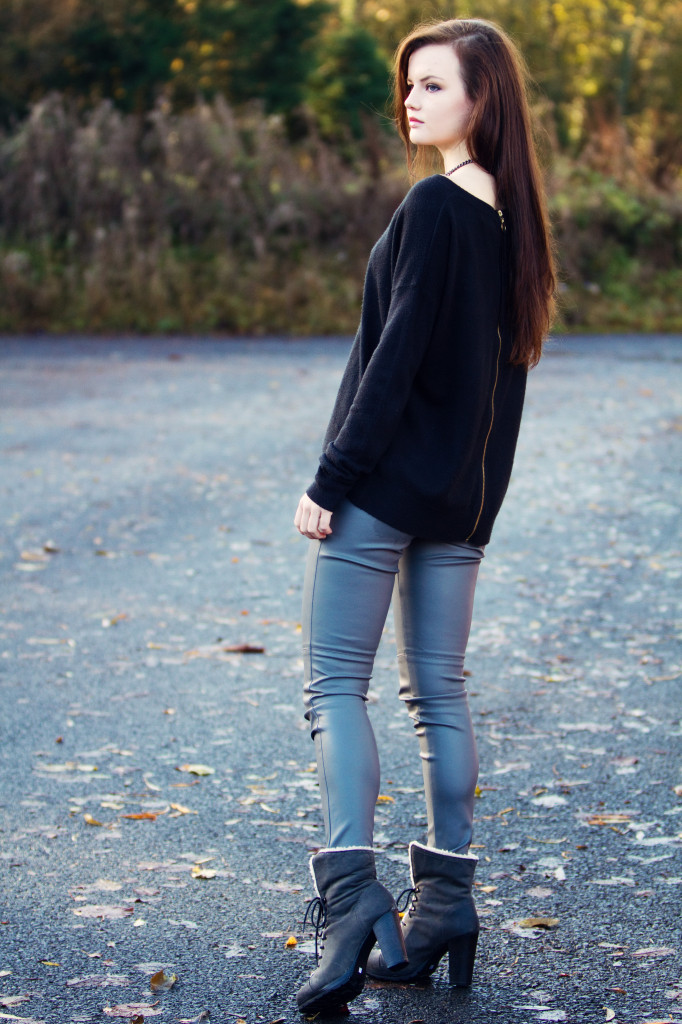 black-sweater-black-boots-grey-leather-jeans