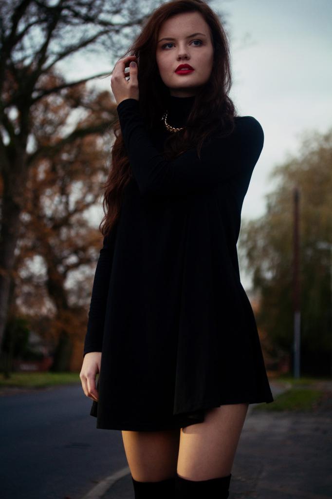 black-swing-polo-dress