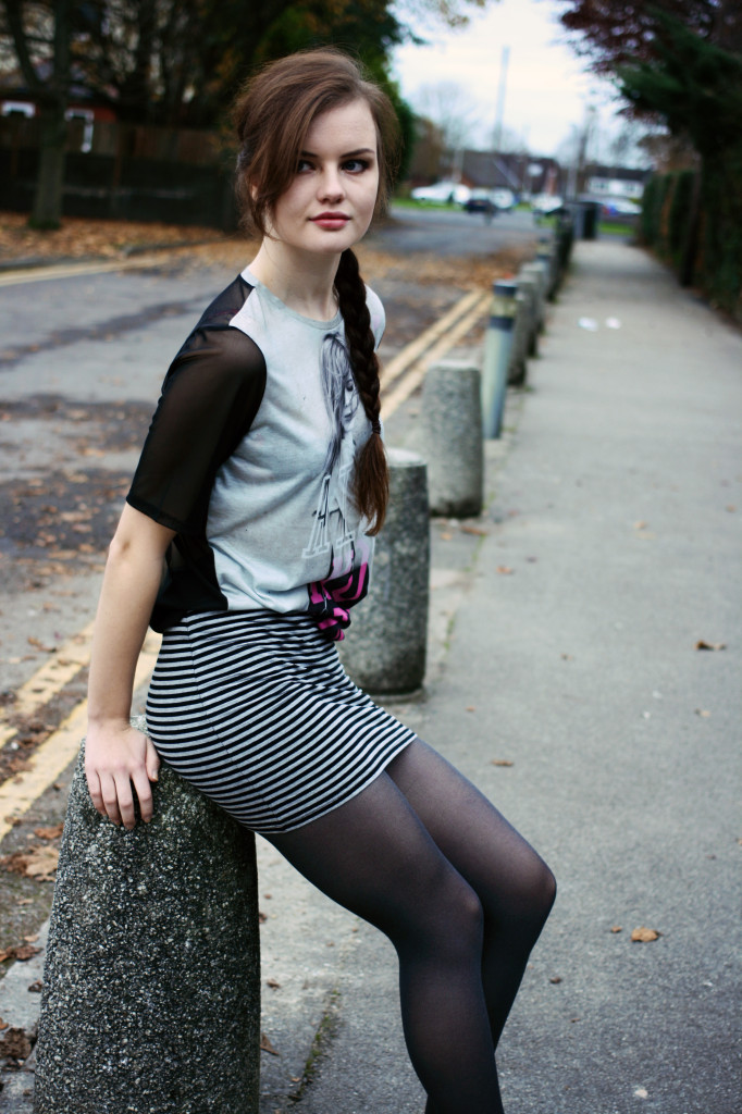 mesh-tshirt-striped-skirt