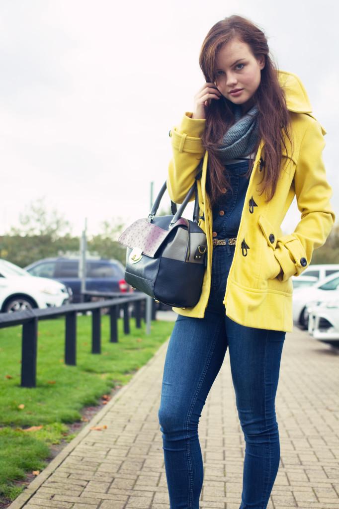 yellow-duffel-coat-dungarees