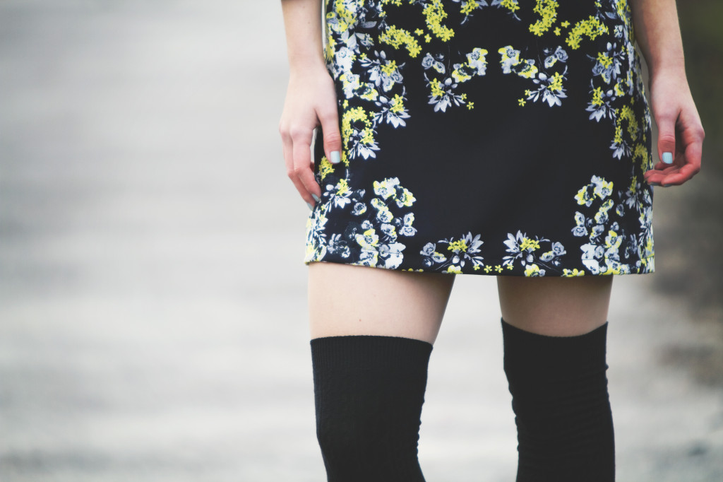 black-overknee-socks-floral-dress