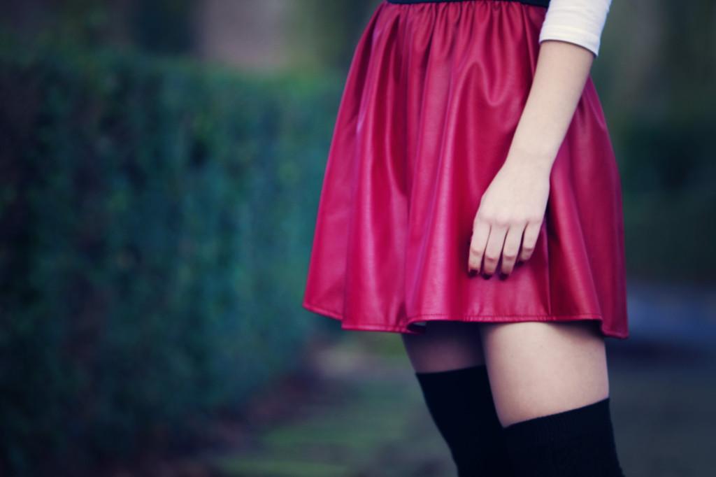 red-skater-skirt
