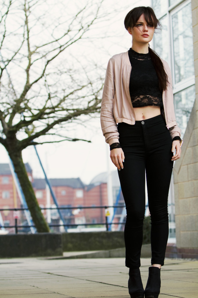 pink-bomber-jacket-with-black-jeans