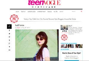 UK teen fashion blogger on TeenVogue website