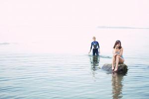 Teenagers at Muasdale Beach Argyll Scotland