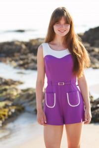 UK teen blogger photographed at Westport Beach Argyll Scotland