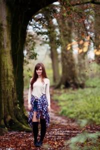 Teen photoshoot in woodland