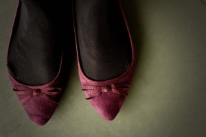 Pointed toe plum shoes from Dorothy Perkins