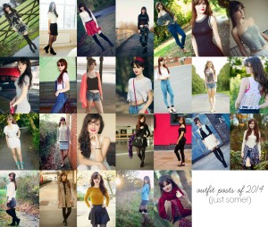 Collage of outfit ideas from UK teen blogger Lily Kate France