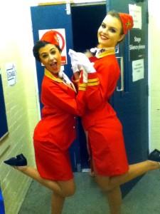 Modern dance outfit Flight Attendants