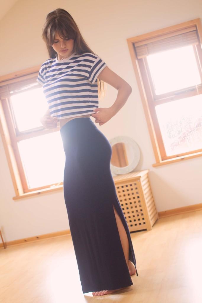 navy-primark-maxi-skirt