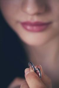 Black zirconia earrings from Thomas Sabo