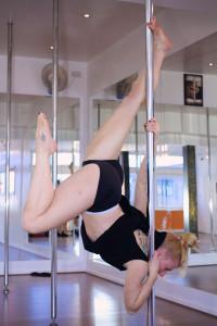 Pole fitness at ECN Blackpool Emma