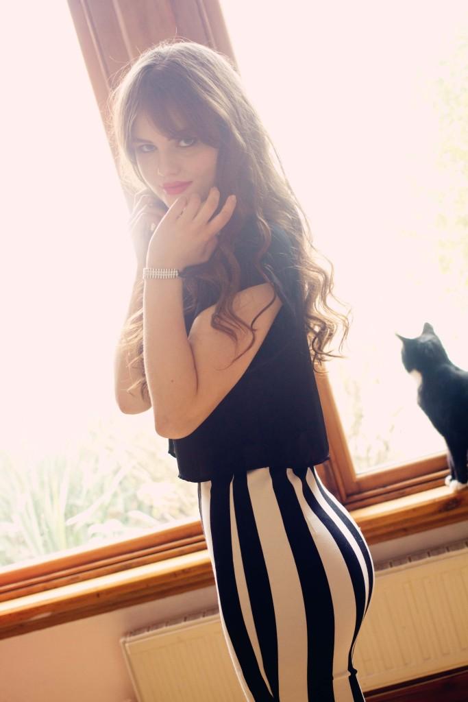 striped-bodycon-dress