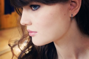 Thomas Sabo black zirconium hoop earrings