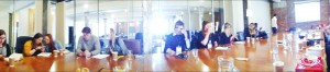 Panorama of boardroom meeting