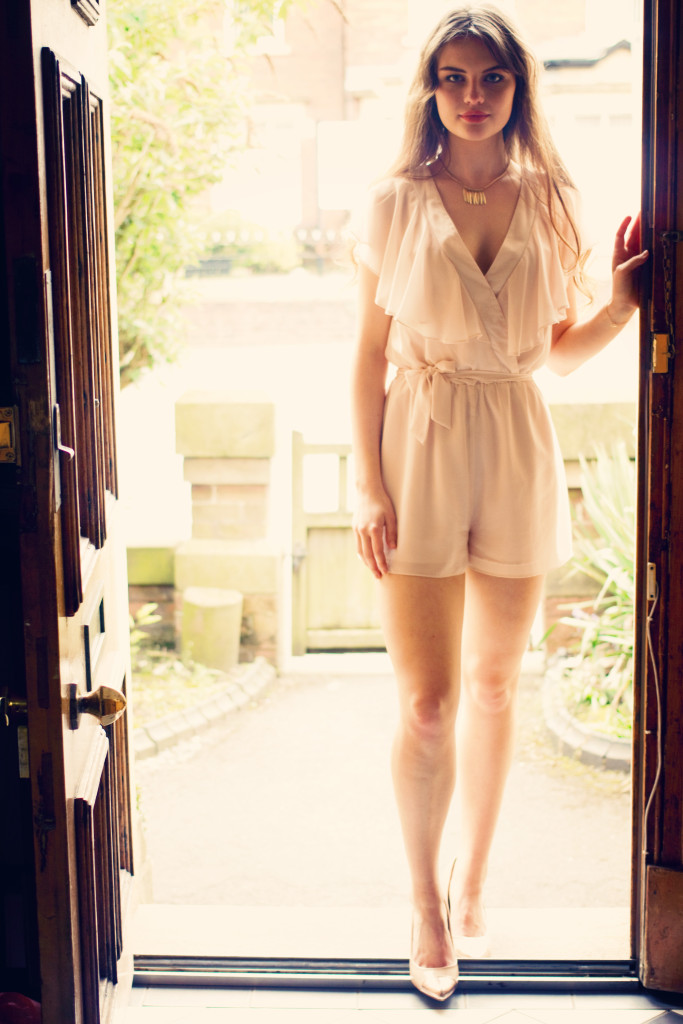 cream-miss-selfridge playsuit