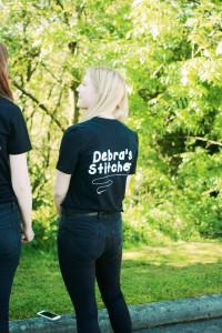 Girl group wearing leavers t-shirts