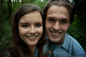 cute young smiling couple