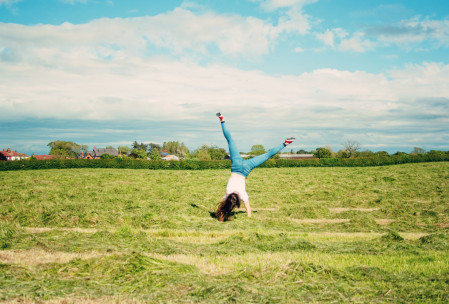cartwheeling-in-field
