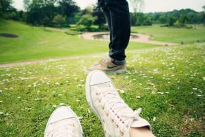 Cream sequinned Converse