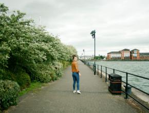 Walking alongside Preston docks