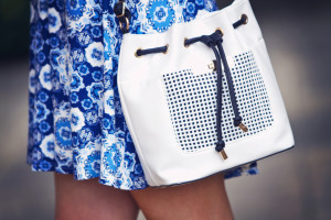 White drawstring bag from New Look