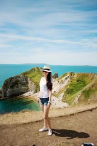 Durdle Door beach in Dorset UK
