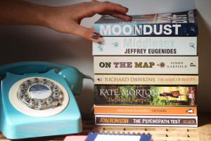 Selection of books for vacation reading. Fiction and non-fiction
