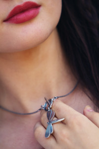 Short dragonfly necklace by Danon from StyleICan