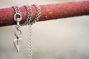 handcrafted heart drop necklance pendant from Danon
