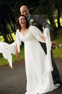 Medieval style wedding dress