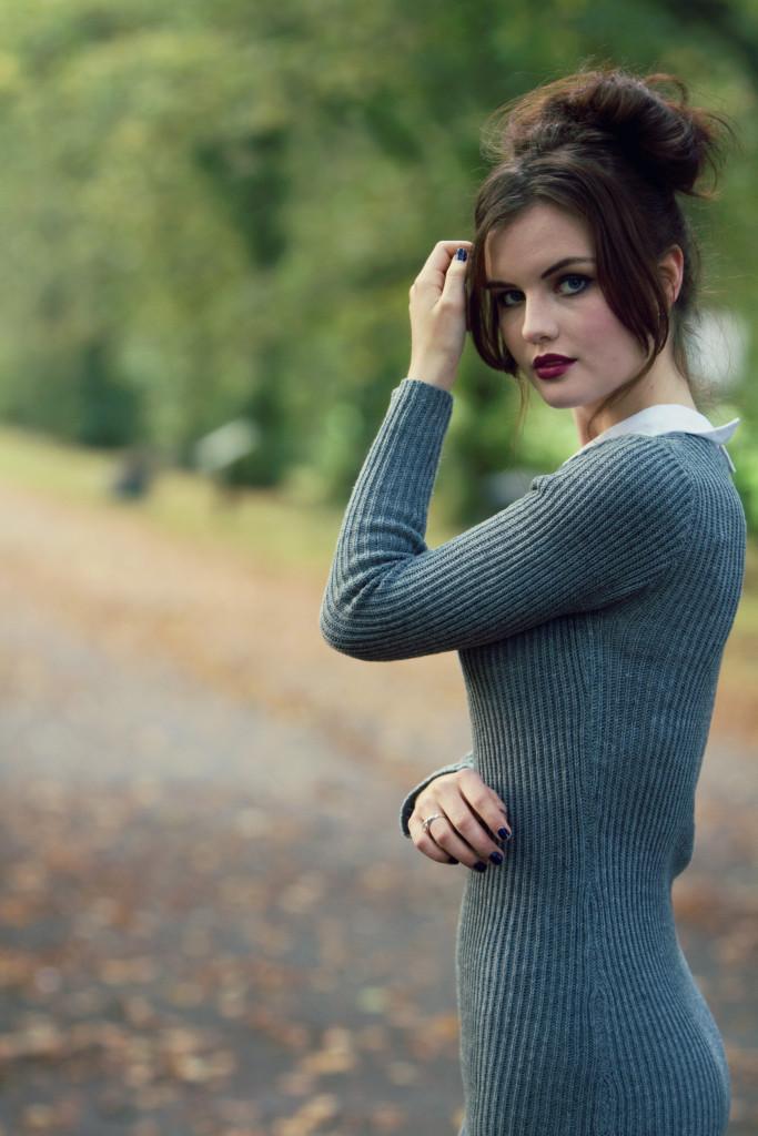 grey-rib-knit-dress