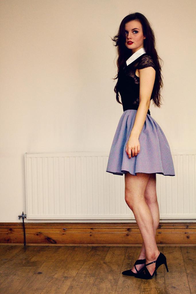 black-and-white-jones-and-jones-dress