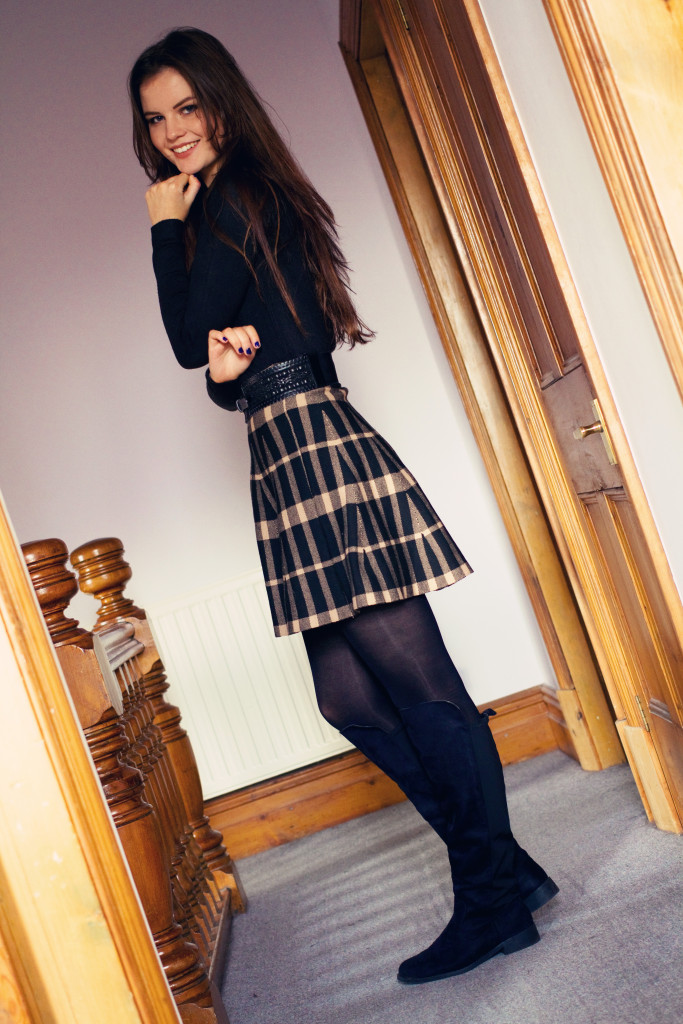 check-skater-skirt-from-new-look