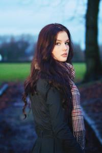 Portrait of teen girl taken in Moor Park Preston Lancashire