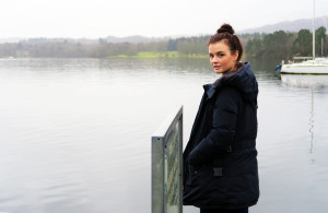 Girl at pier in Coniston