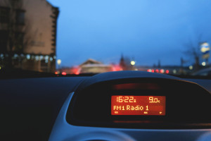 LCD display in car