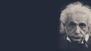 Albert Einstein black and white photograph