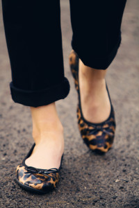 leopard print fold up shoes for after night out