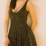 sparkly | black and gold sparkly dress