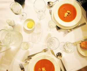 Soup at Ox Pasture Hall