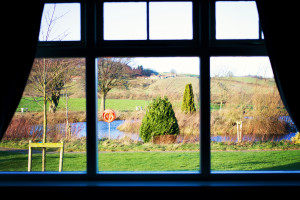 View from twin suite at Ox Pasture Hall
