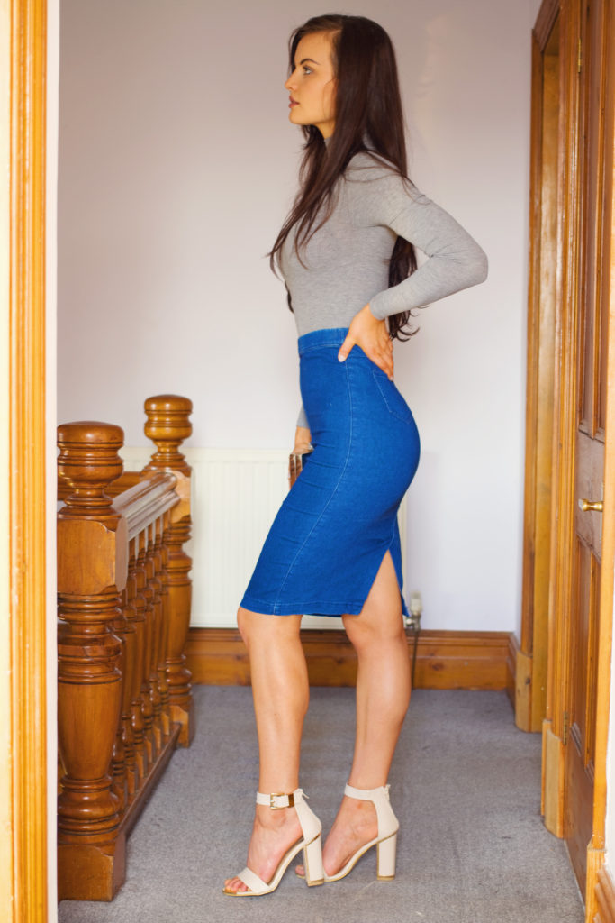 tight-denim-midi-skirt
