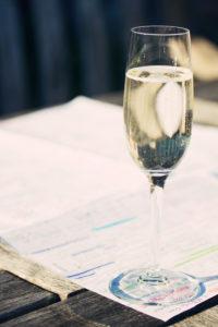 champagne glass of prosecco