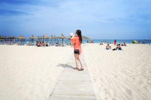 Teen girl on Magaluf Beach