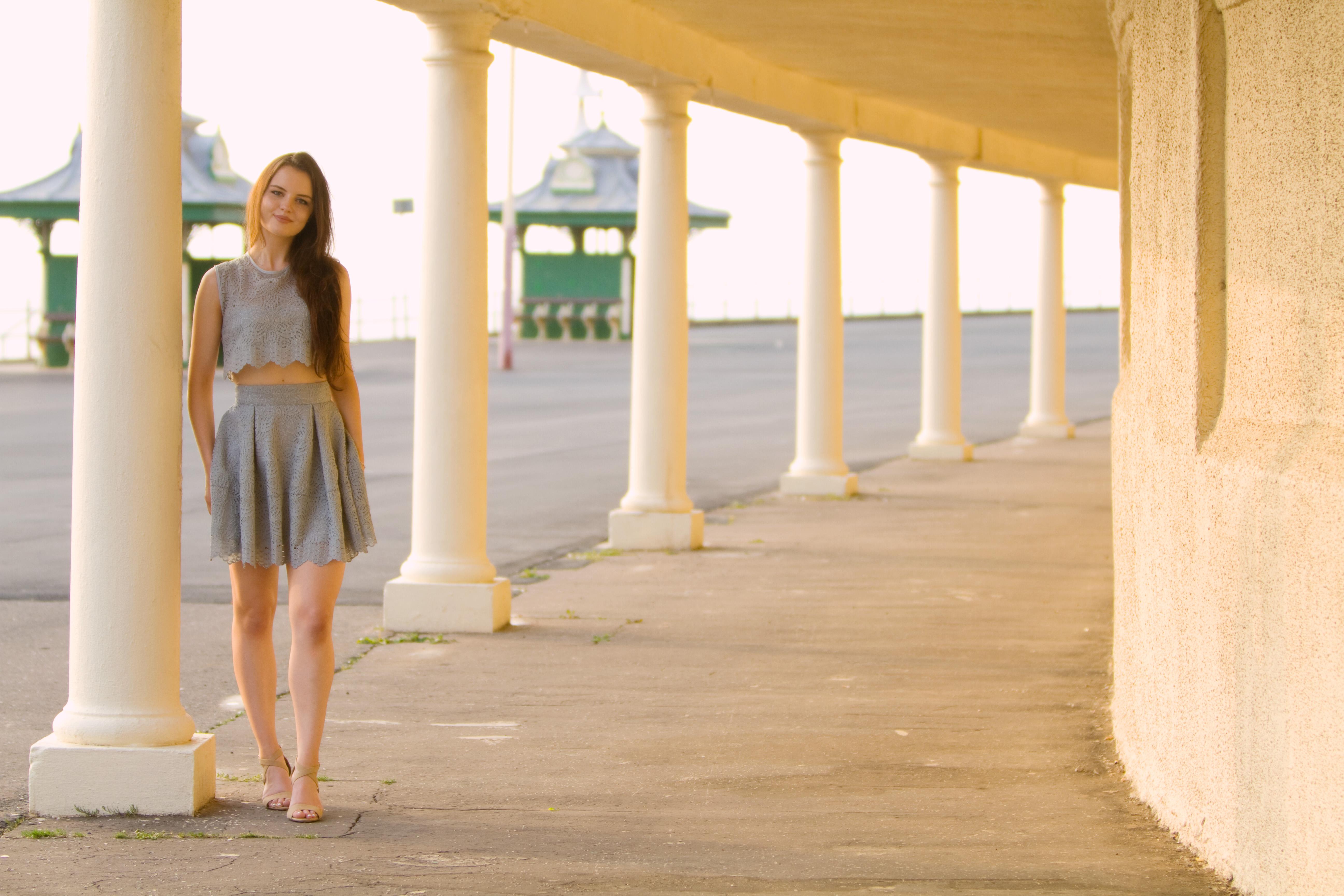 Photo shoot on Blackpool promenade, England
