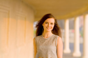 Smiling brunette teen girl