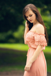 Feminine pink dress outfit